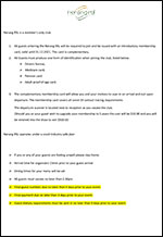 RSL Covid Restrictions List for Events